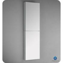 Fresca FMC8030 15-Inch Wide x 52-Inch Tall Bathroom Mirrored Medicine Cabinet