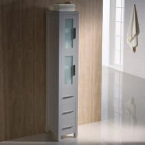Fresca Torino 12-Inch Gray Bathroom Tall Linen Side Cabinet