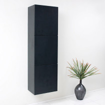 Fresca 17.8-Inch Black Wall-Mount Bathroom Linen Side Cabinet