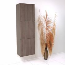 Fresca 17.8-Inch Gray Oak Wall-Mount Bathroom Linen Side Cabinet