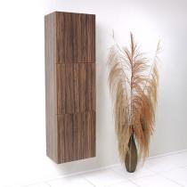 Fresca 17.8-Inch Walnut Wall-Mount Bathroom Linen Side Cabinet