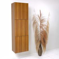 Fresca 17.8-Inch Teak Wall-Mount Bathroom Linen Side Cabinet