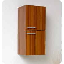Fresca 12.6-Inch Teak Wall-Mount Bathroom Linen Side Cabinet