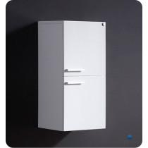 Fresca 12.6-Inch White Wall-Mount Bathroom Linen Side Cabinet