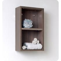 Fresca 11.9-Inch Gray Oak Wall-Mount Bathroom Linen Side Cabinet