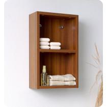 Fresca 11.9-Inch Teak Wall-Mount Bathroom Linen Side Cabinet