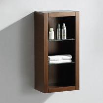 Fresca Allier 15.8-Inch Wenge Wall-Mount Bathroom Linen Side Cabinet