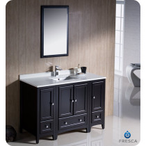 Fresca Oxford (single) 48-Inch Espresso Transitional Bathroom Vanity Set