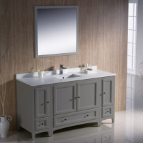 Fresca Oxford (single) 60-Inch Gray Transitional Bathroom Vanity Set