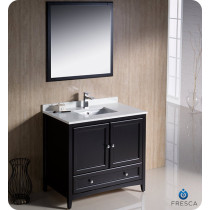Fresca Oxford (single) 36-Inch Transitional Espresso Bathroom Vanity Set