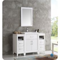 Fresca Cambridge (single) 48-Inch White Modern Bathroom Vanity Set