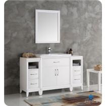 Fresca Cambridge (single) 54-Inch White Modern Bathroom Vanity Set