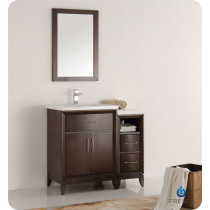 Fresca Cambridge (single) 36-Inch Antique Coffee Modern Bathroom Vanity with Integrated Sink