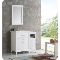 Fresca Cambridge (single) 36-Inch White Modern Bathroom Vanity Set