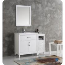 Fresca Cambridge (single) 42-Inch White Modern Bathroom Vanity Set