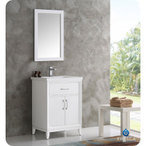 Fresca Cambridge (single) 24-Inch White Modern Bathroom Vanity Set