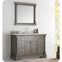 Fresca Kingston (single) 49-Inch Antique Silver Traditional Bathroom Vanity Set