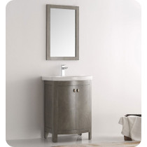 Fresca Greenwich (single) 24.6-Inch Antique Silver Modern Bathroom Vanity