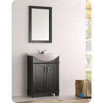 Fresca Hartford (single) 23.6-Inch Black Modern Bathroom Vanity