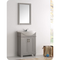 Fresca Hartford (single) 23.6-Inch Gray Modern Bathroom Vanity