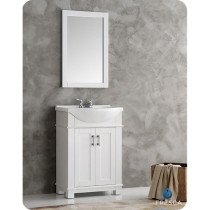 Fresca Hartford (single) 23.6-Inch White Modern Bathroom Vanity