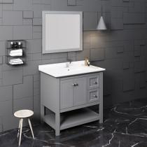 Fresca Manchester (single) 36-Inch Gray Modern Bathroom Vanity Set