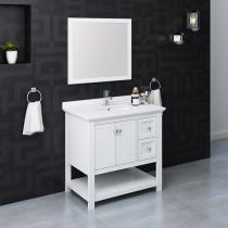 Fresca Manchester (single) 36-Inch White Modern Bathroom Vanity Set