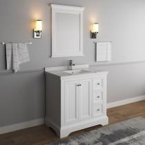 Fresca Windsor (single) 36-Inch Transitional Matte White Bathroom Vanity Set