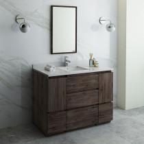 Fresca Formosa (single) 48-Inch Acacia Modern Modular Bathroom Vanity Set