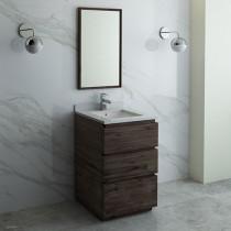 Fresca Formosa (single) 24-Inch Acacia Modern Modular Bathroom Vanity Set
