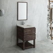 Fresca Formosa (single) 24-Inch Acacia Modern Modular Bathroom Vanity Set w/ Open Bottom