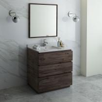 Fresca Formosa (single) 36-Inch Acacia Modern Modular Bathroom Vanity Set