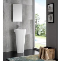 Fresca Messina (single) 15.75-Inch White Modern Pedestal Bathroom Vanity Set