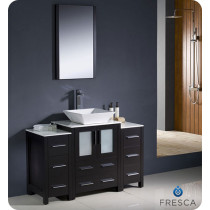 Fresca Torino (single) 48-Inch Espresso Modern Bathroom Vanity with Vessel Sink