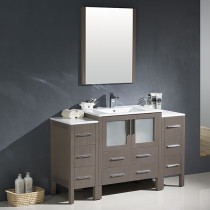 Fresca Torino (single) 54-Inch Gray Oak Modern Bathroom Vanity with Integrated Sink