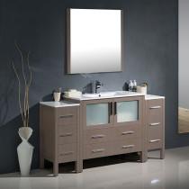 Fresca Torino (single) 59.75-Inch Gray Oak Modern Bathroom Vanity with Integrated Sink