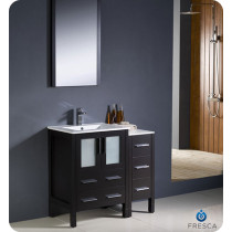 Fresca Torino (single) 36-Inch Espresso Modern Bathroom Vanity with Integrated Sink
