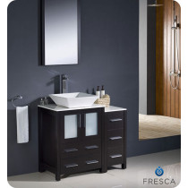 Fresca Torino (single) 36-Inch Espresso Modern Bathroom Vanity with Vessel Sink