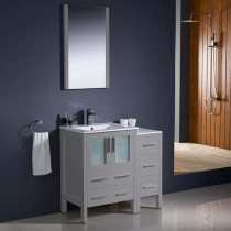 Fresca Torino (single) 36-Inch Gray Modern Bathroom Vanity with Integrated Sink