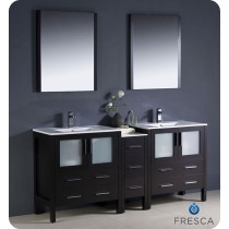 Fresca Torino (double) 72-Inch Espresso Modern Bathroom Vanity with Integrated Sinks