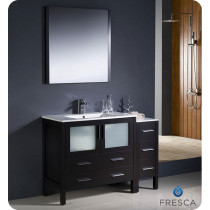 Fresca Torino (single) 47.75-Inch Espresso Modern Bathroom Vanity with Integrated Sink