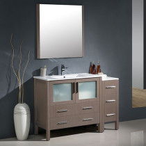 Fresca Torino (single) 47.75-Inch Gray Oak Modern Bathroom Vanity with Integrated Sink