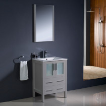 Fresca Torino (single) 24-Inch Gray Modern Bathroom Vanity with Integrated Sink
