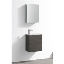 Fresca Valencia (single) 19.7-Inch Gray Oak Modern Wall-Mount Bathroom Vanity Set