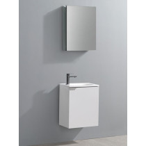 Fresca Valencia (single) 19.7-Inch Glossy White Modern Wall-Mount Bathroom Vanity Set