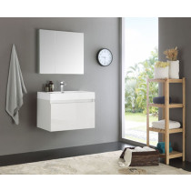 Fresca Mezzo (single) 29.5-Inch White Modern Wall-Mount Bathroom Vanity Set