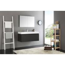 Fresca Mezzo (single) 47.3-Inch Black Modern Wall-Mount Bathroom Vanity Set