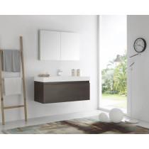 Fresca Mezzo (single) 47.3-Inch Gray Oak Modern Wall-Mount Bathroom Vanity Set