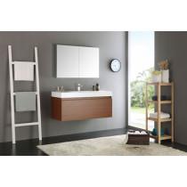 Fresca Mezzo (single) 47.3-Inch Teak Modern Wall-Mount Bathroom Vanity Set
