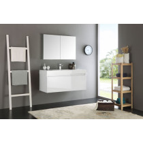 Fresca Mezzo (single) 47.3-Inch White Modern Wall-Mount Bathroom Vanity Set